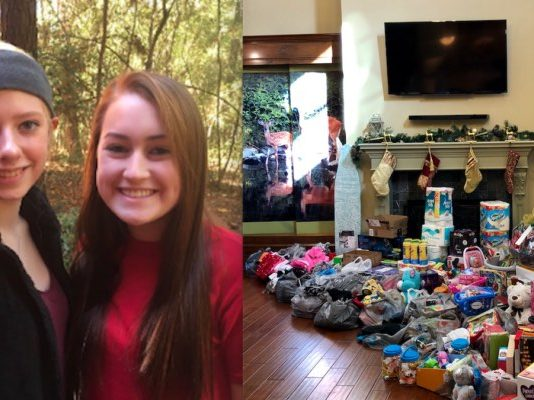 Two teens collect thousands of dollars in donations for women's center