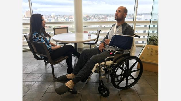Aaron Gutierrez Recovering After Saving Pregnant Wife