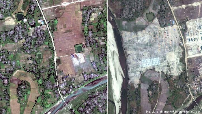 Myanmar bulldozing Rohingya villages, human rights group claims
