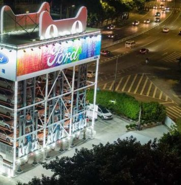 Ford Debut Car Vending Machine in China