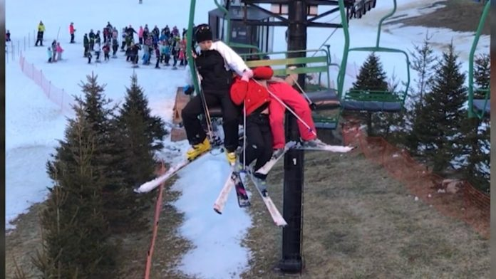Girl Falls 25 Feet From Ski Lift During Rescue Attempt On Slope in Lawrenceburg, Indiana