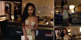 Mika Riddick donates her prom dress, shoes and makeup to help girls in need