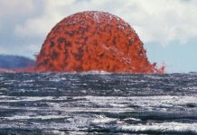 Fiery bubbles of molten lava fill the ocean in first ever images