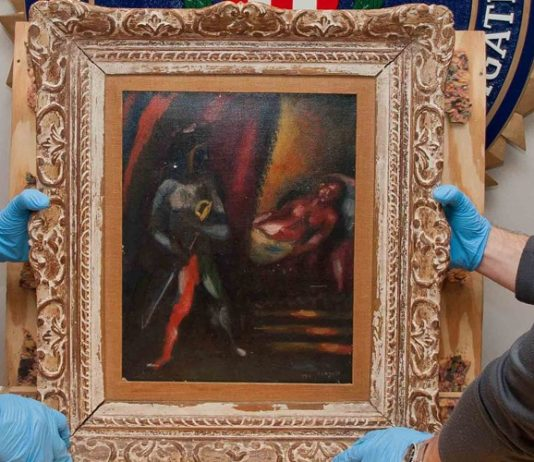 "Marc Chagall Painting in NYC Returned After 30 Years ""Photo"""