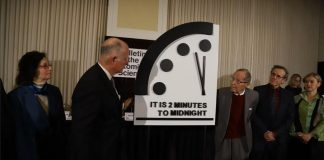 Doomsday Clock close to apocalypse time (Reports)