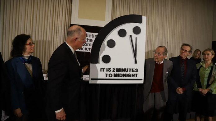 Doomsday Clock close to apocalypse time (Reports)