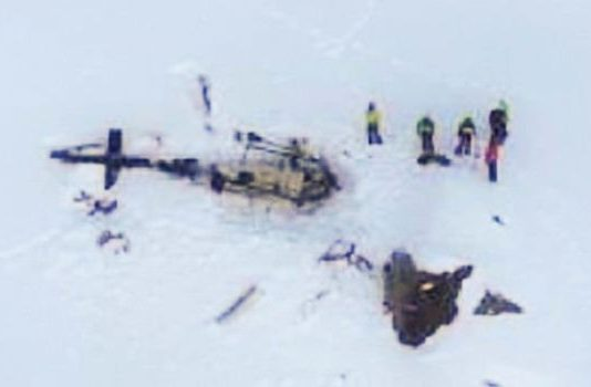 Plane, helicopter collision in Italian Alps kills five