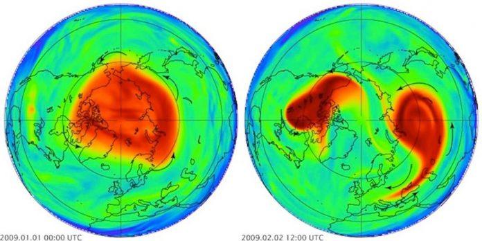Polar vortex splits, sending frigid air howling into the US
