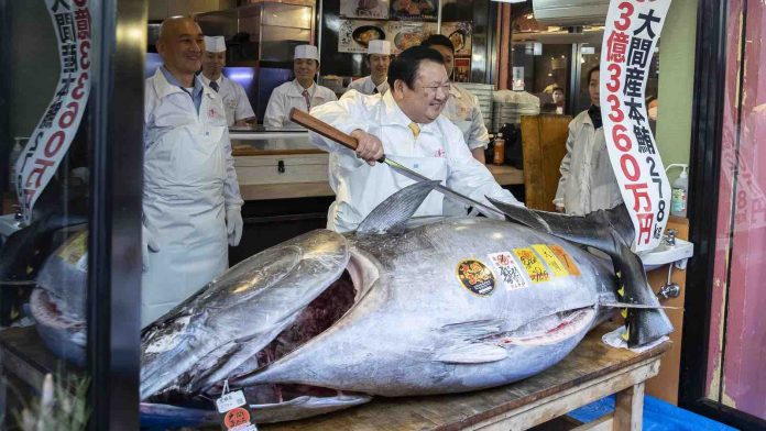 Tuna sold for $4.4m In Tokyo Market