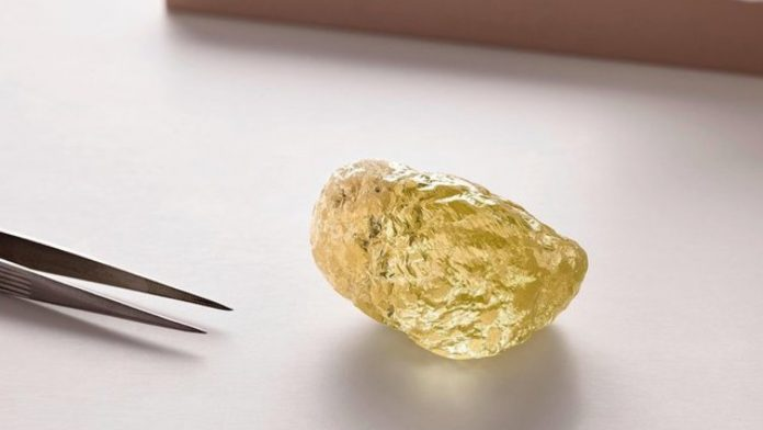 Largest yellow diamond discovered in North America