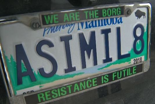 Manitoba Judge Upholds Decision To Revoke 'Star Trek' Licence Plate (Details)