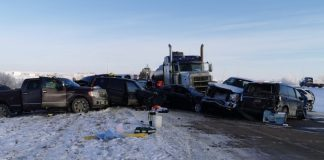 20-vehicle crash near Grande Prairie, Report
