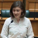 Chloe Swarbrick shuts down heckler with 'OK boomer' retort
