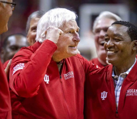 Bob Knight returns to Assembly Hall (Watch)