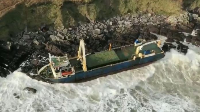 'Ghost ship' washes up on Irish coast after more than a year at sea