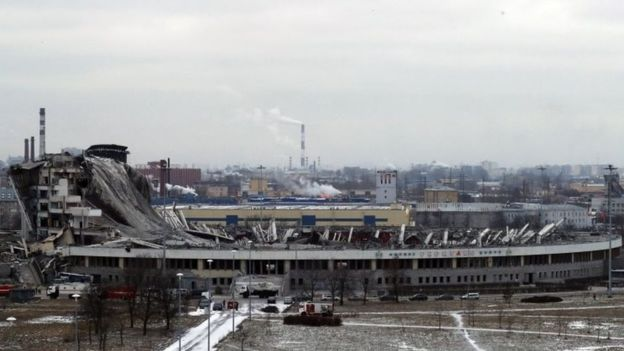 Russia: Worker dies in sport stadium roof collapse
