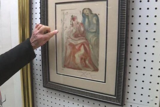 Salvador Dali artwork discovered at NC thrift store (Picture)