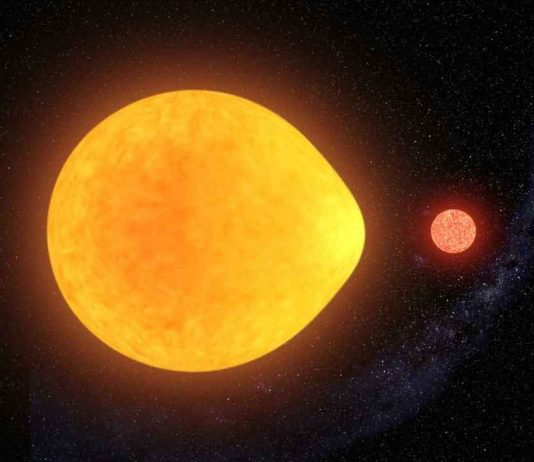 Teardrop star discovered with tiny partner, Study