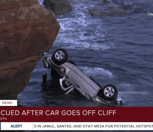 San Diego cop rescues twin girls and Father After Truck Plunges Off Sunset Cliffs