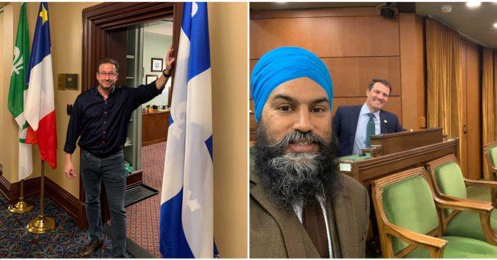 Blanchet blames Singh for creating 'divide' between Quebec