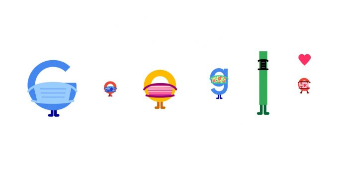 Wear a Mask. Save Lives. (Aug 5): Google Doodle urges us to stay home