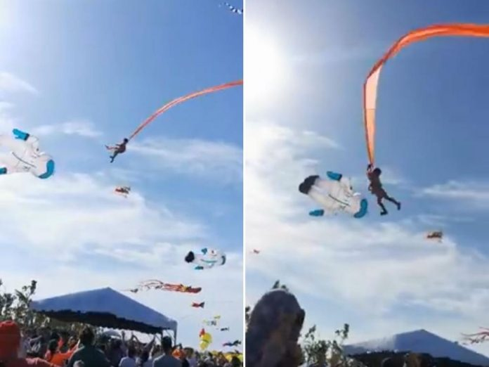 3-year-old girl safe after being lifted by kite in Taiwan (Video)
