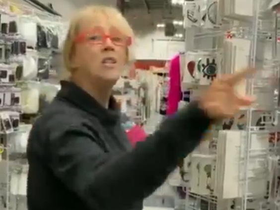 Anti-mask rant from woman at Calgary Fabricland captured on video (Watch)
