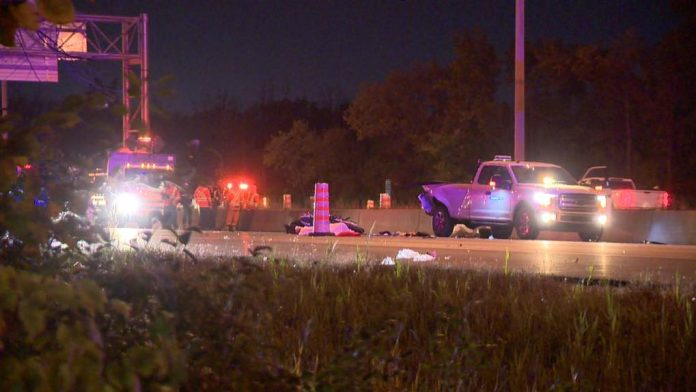 Laval: One dead, two critically injured after motorcycle slams into construction site