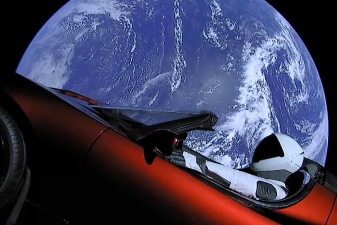 Report: Elon Musk's Tesla Roadster Just Passed Mars