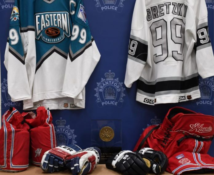 Brantford police say two people charged in theft of Wayne Gretzky memorabilia