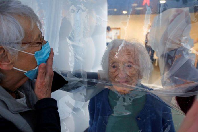 France Coronavirus: 'Hug bubble' lets seniors feel the magic of touch