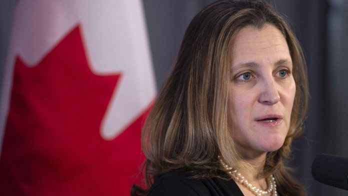 Freeland set to deliver update on federal finances and economic outlook, Report