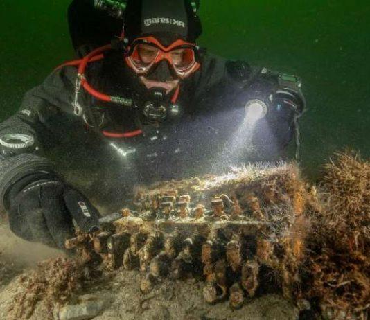 Nazi Enigma cipher machine found in Baltic Sea (Picture)