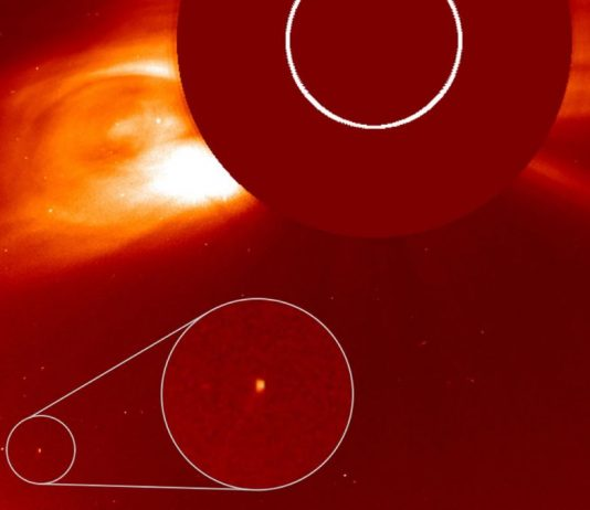 Newly discovered comet photographed during solar eclipse (Study)