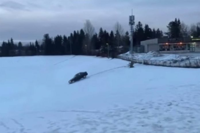 Car Jumps Fence And Lands In B.C. High School Field, Police Investigate (Video)