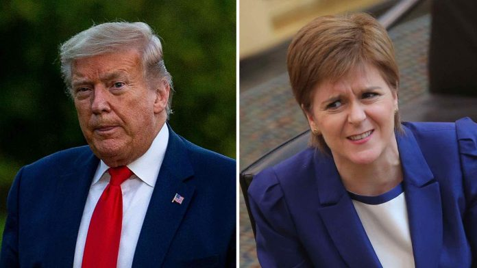 Nicola Sturgeon: Trump not allowed into Scotland to escape Biden inauguration