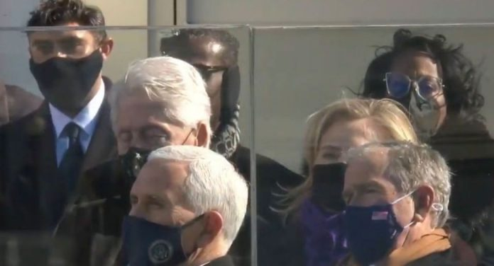 Picture: Was Bill Clinton sleeping during the Biden Inaguration?