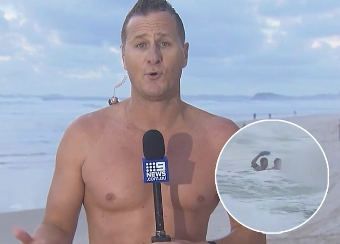 Australian Weatherman Pulls Dead Body From The Ocean During Live Report (Video)