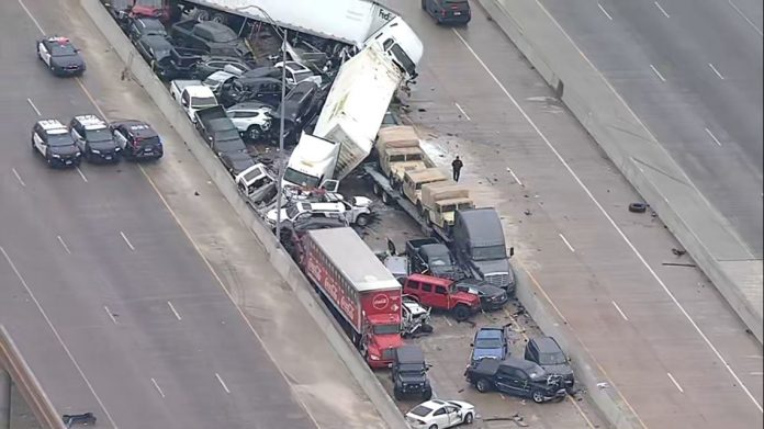 Icy conditions cause massive 133-car pileup in Texas (Update)