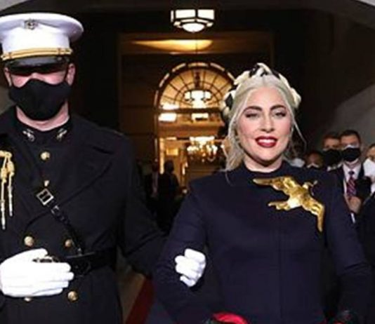 Marine Who Escorted Lady Gaga at the Inauguration Shares Humorous & Heartfelt Backstory (Photo)