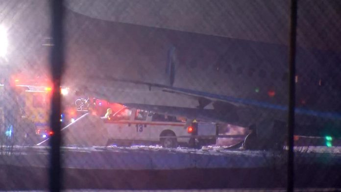 Plane carrying 77 passengers slides off taxiway in Pittsburgh
