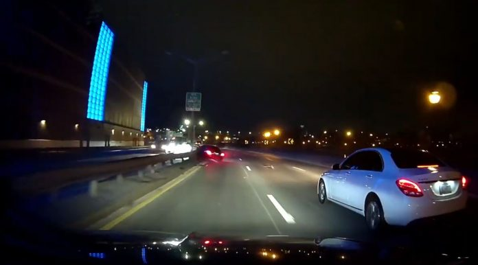 Reckless driver slams into highway barrier in New York (Video)