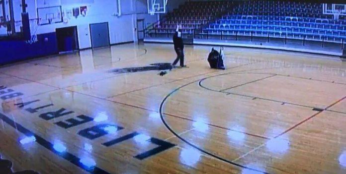 School custodian's half-court shot goes viral (Video)