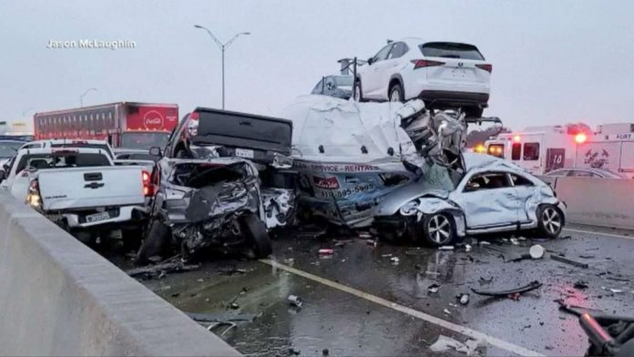 Six People Die in Texas Crash Involving More Than 100 Vehicles