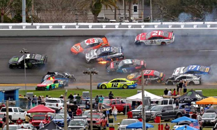 The 'Big One' strikes early as multicar crash unfolds before rain strikes Daytona 500 (Video)