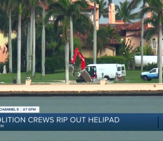 Why is Donald Trump's Mar-a-Lago helipad being demolished?