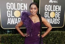 Angela Bassett Looks Downright Regal at the 2021 Golden Globes, Report