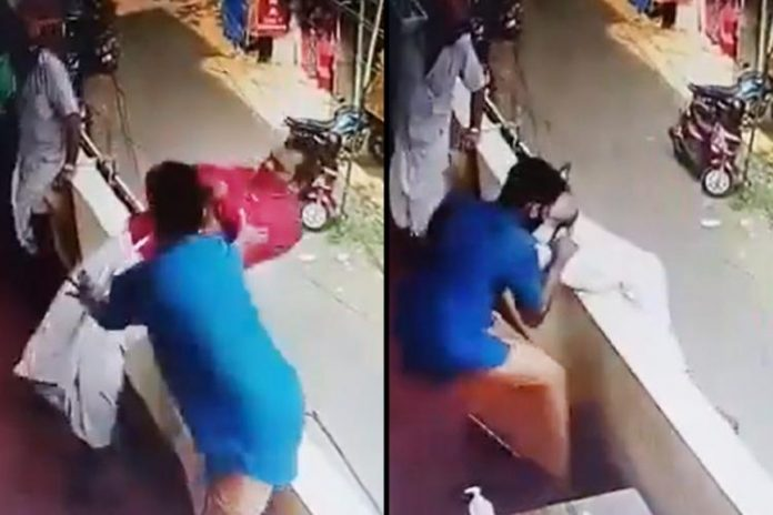 Man Who Fell From a Balcony Escapes Death Thanks To Bystander Who Caught Him by the Foot (Video)