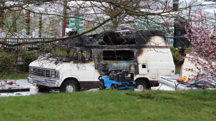 Man dead, woman injured in Vancouver camper van fire