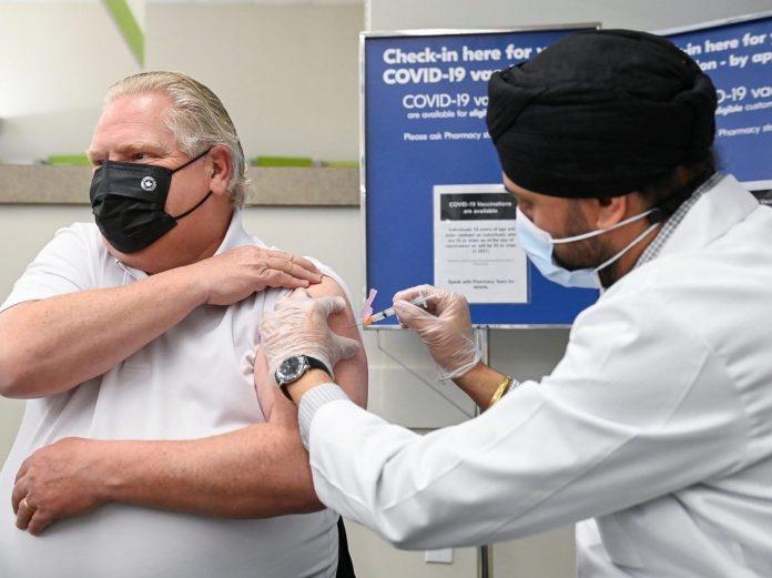 Premier Doug Ford gets AstraZeneca vaccine shot